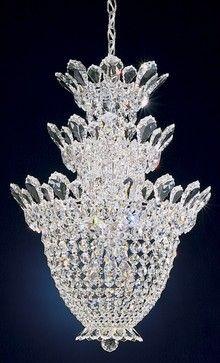Schonbek Rooms/images | Crystal Schonbek Trilliane Collection 3 Tier Crystal  Foyer Pendant .