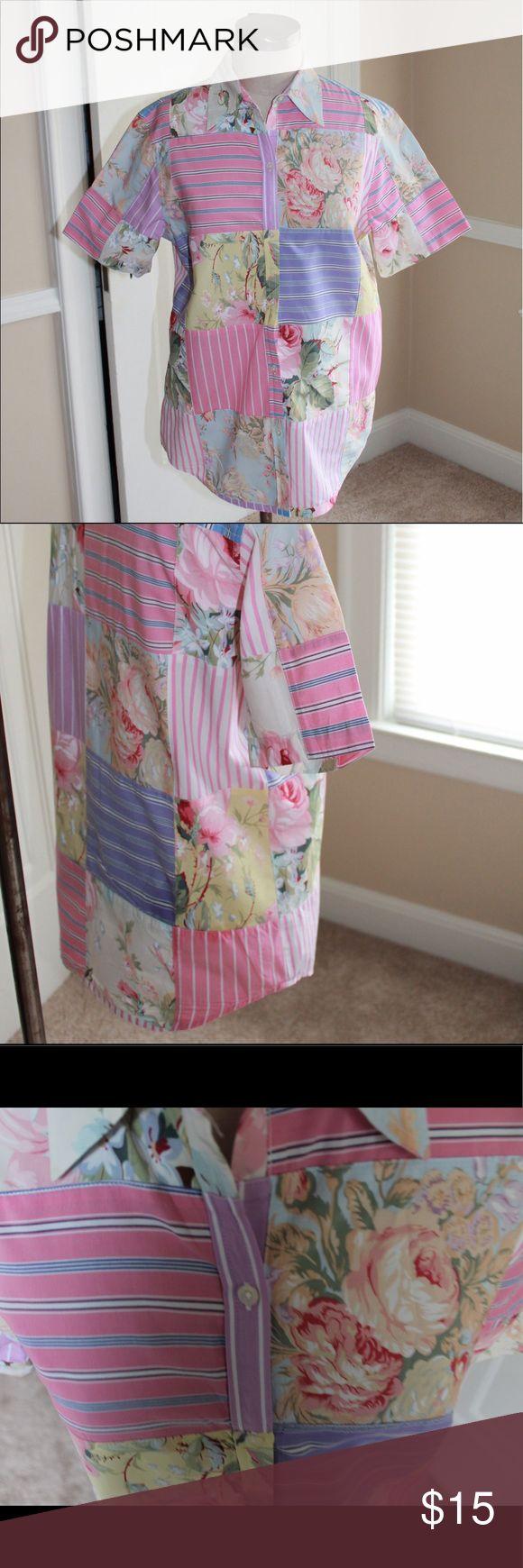 Ralph Lauren Floral Patchwork Blouse Ralph Lauren Floral Patchwork Blouse 🌺 Size Medium 🌼 100% cotton Ralph Lauren Tops Button Down Shirts