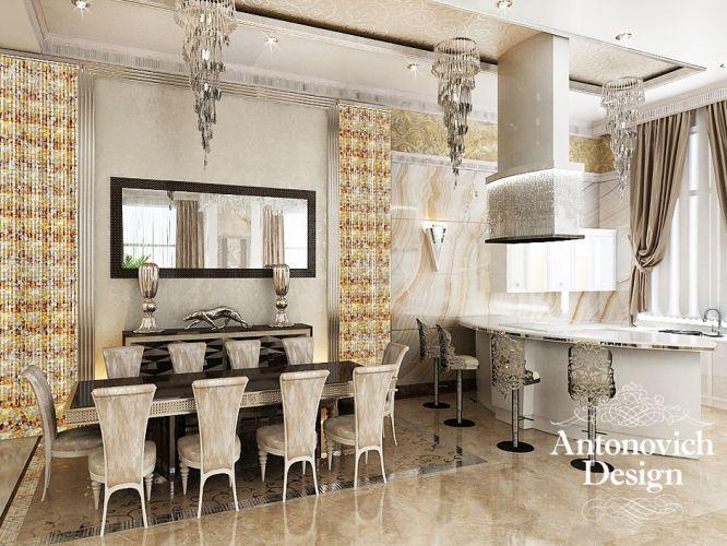 Столовая комната в стиле арт-деко с нотками вечной ...