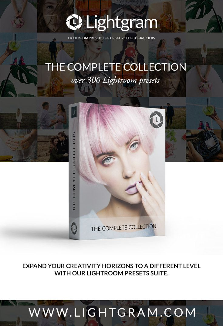 Pin to Win!  The Complete Lightroom Presets Collection 347 Pro Lightroom Presets.  All 17 of our Lightroom Presets Collections in one bundle…  www.lightgram.com  #lightroom #photography #lightroompresets #freebies
