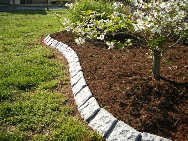 Great Edging Materials For Landscaping | Ideas   Garden Edging Stone Garden Edging  02 Design And Landscaping