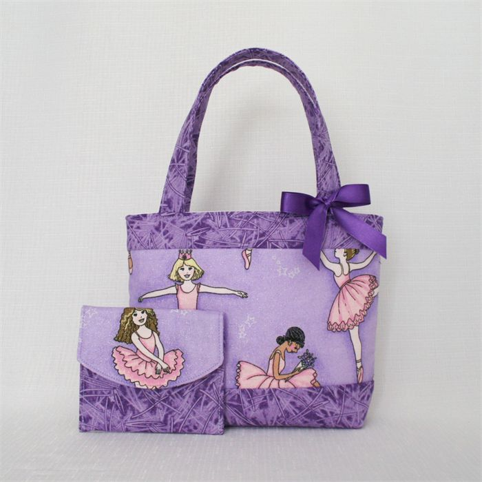Mini Tote Bag & Purse - Sparkle Ballerinas