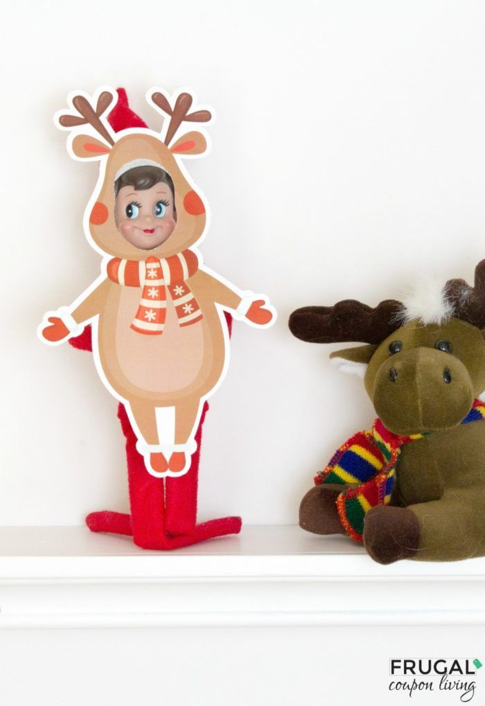 Are you following all of Frugal Coupon Living'sElfon the Shelf Ideas? See well over 100s of creative, funny, and original ideas for your Elf! Get dressed up with thisElf Reindeer Costume.