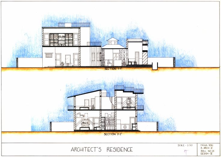 Elevation Plan Presentation : Best images about plans section elevations on