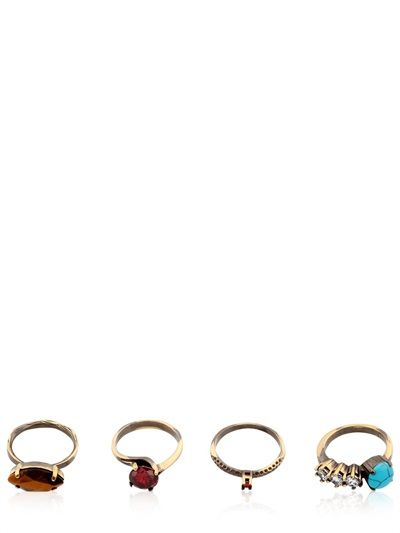 IOSSELLIANI GYSTER SET OF 4 RINGS - LUXURY SHOPPING WORLDWIDE SHIPPING – FLORENCE