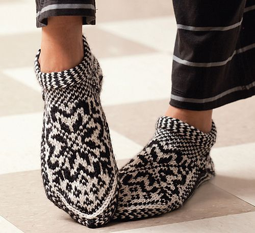 Ravelry: Norwegian Star Slippers pattern by Laura Farson