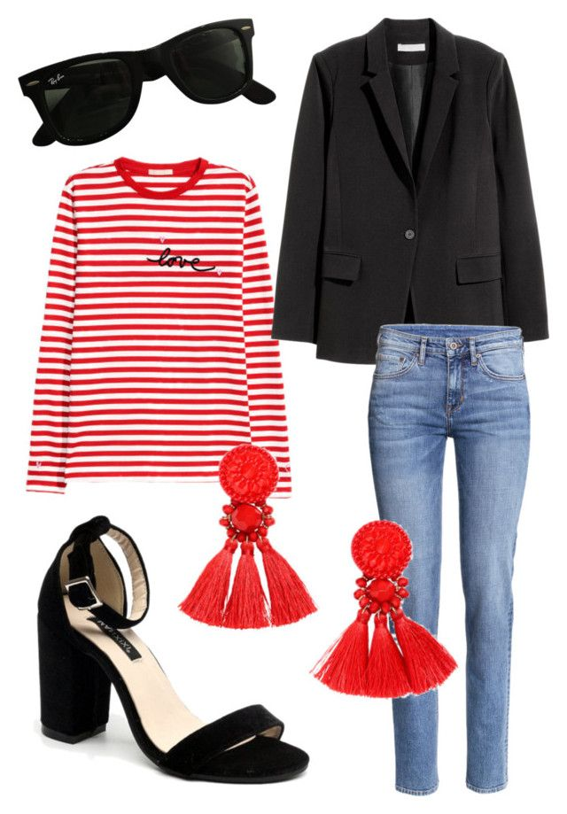 """""""Untitled #225"""" by stinasolheim on Polyvore featuring H&M and Ray-Ban"""