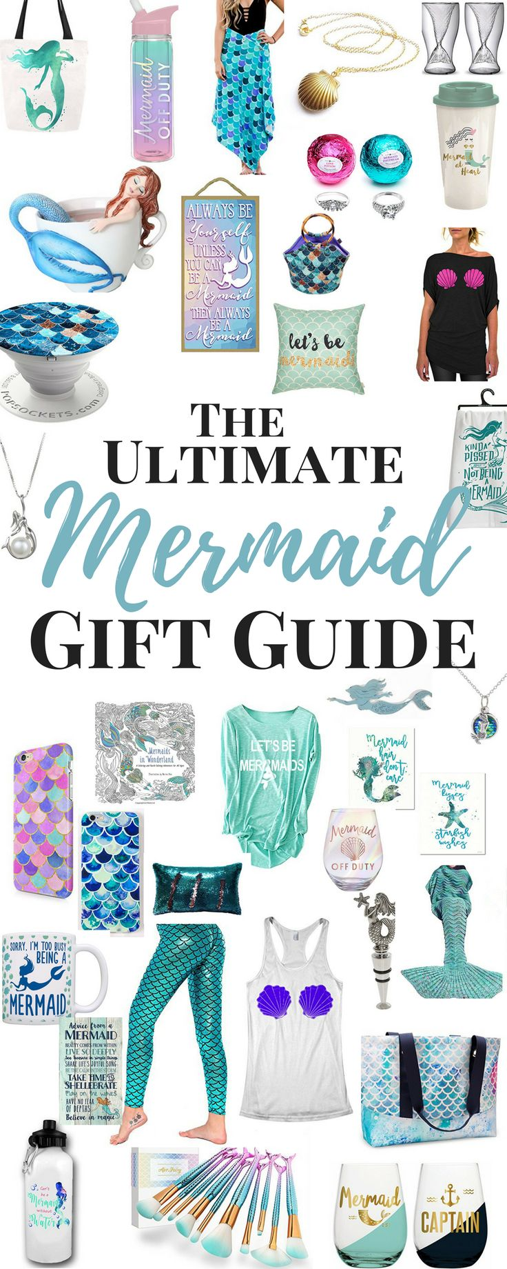 Mermaid Gifts - Looking for awesome Gift Ideas For Her? Gifts for Women? Gift Ideas for Girls? Here are some great Mermaid Gift Ideas for the Mermaid Lover on your list. and these are also Mermaid gifts for adults! Bring these awesome Mermaid Gifts to your next Mermaid Party! Get the best Gift for her!!
