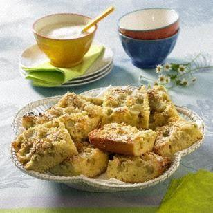 Stachelbeer-Blechkuchen mit Guss