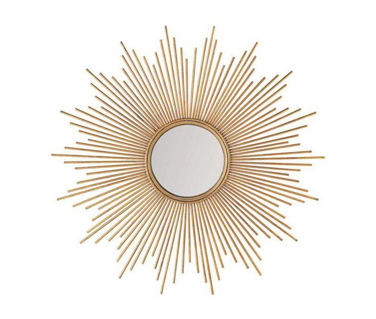 style scandinave miroir en m tal dor magellan via. Black Bedroom Furniture Sets. Home Design Ideas