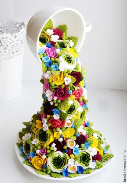 Цветочный фонтан. Handmade.