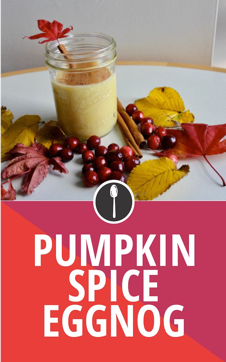 ... spiked pumpkin spice #eggnog for the perfect #Thanksgiving #cocktail