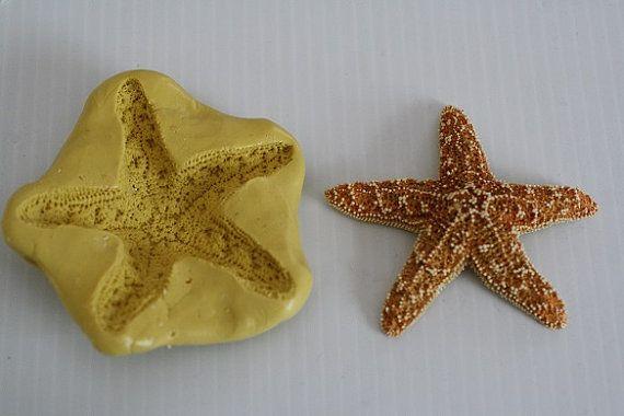 Silicone 2 starfish Mold for cake decorating by ACakeToRemember, $7.00