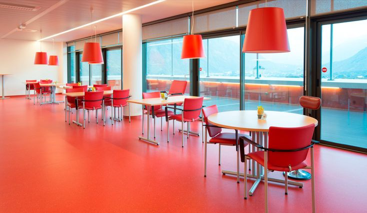 Taralay Premium Comfort used in high traffic areas, excellent and practical vinyl flooring for this educational institute.