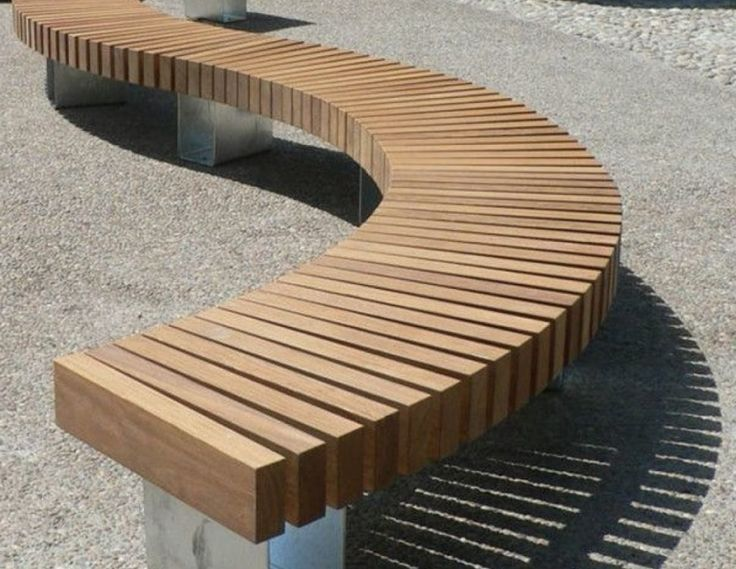 Outdoor Modern Outdoor Bench Curved Outdoor Bench With Back Round Bench Seating In 2020 Modern Bench Outdoor Curved Outdoor Benches Outdoor Bench