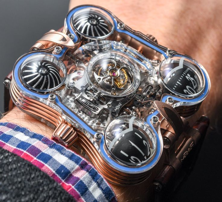"""Starting the day of with our latest Hands-On - MB&F HM6 SV 'Sapphire Vision'. Unique 475-component movement, five sapphire domes and a tourbillon, which you can cover with a titanium """"shield""""."""