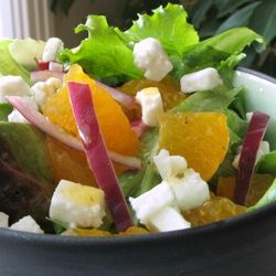 This salad is refreshing and simple, but it has a delicious secret-- Bergamot-Scented Vinaigrette, made with Earl Grey tea.