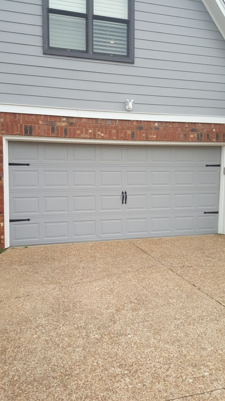 Garage door accents - Add Carriage Style Accents To Any Traditional Garage Door This Is Our Blue Ridge Magnetic