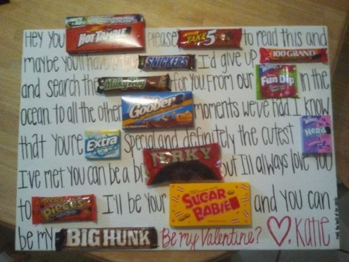 candy board card! Fun flirty way to say I love him...sometimes its fun to act like we are still teenagers in love <3
