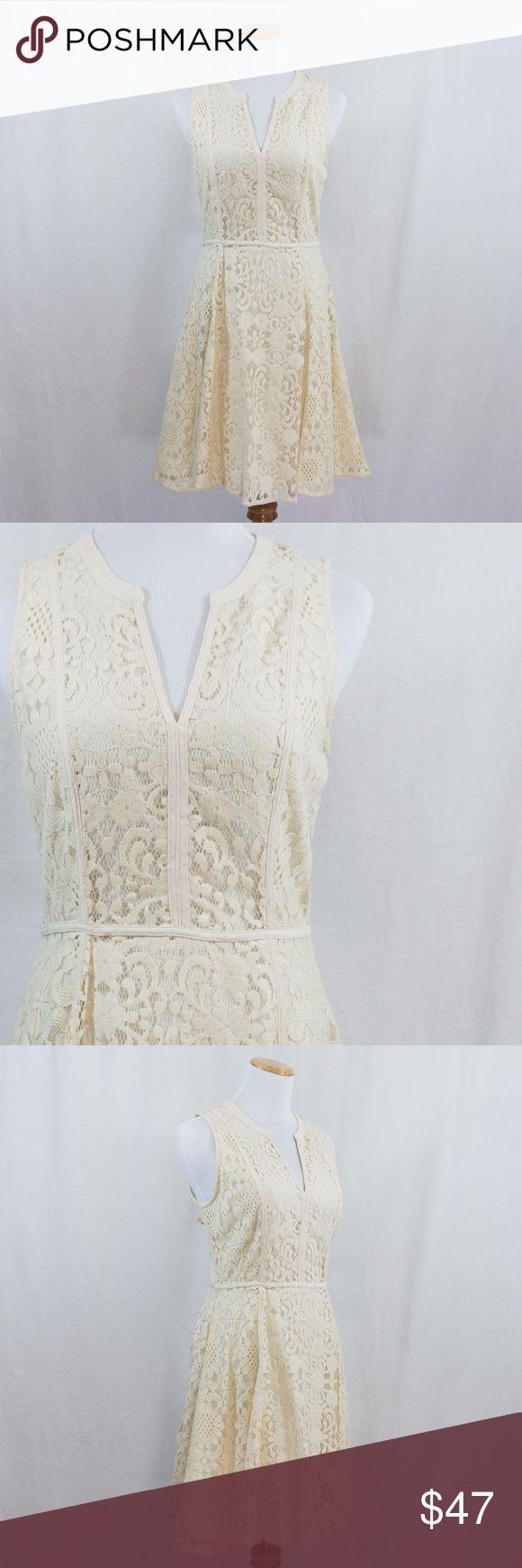 "Lace Dress NWT Brand new cream lace dress. Hidden side zipper. Fully lined. B 18.5""; W 29""; L 37"". LC Lauren Conrad Dresses"