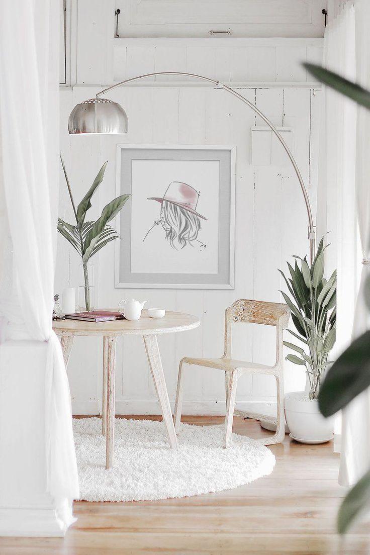Illustrazione minimalista, Stampa d'arte romantica, Minimal Bohemian, Blush Pink, Minim …