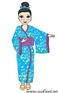 Нарисовать японский костюм