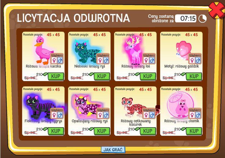 Nowe zwierzęta w licytacji odwrotnej w Radosnych Pupilach http://grynank.wordpress.com/2013/08/10/nowe-zwierzeta-w-licytacji-odwrotnej-w-radosnych-pupilach/ #gry #nk