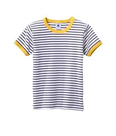 T-shirt jongen, gestreept, ribkatoen