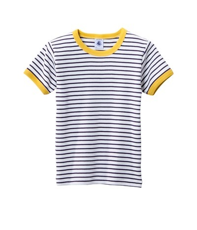 petit bateau - perfect summer tee for little guys  Great colors together and stripes are always nice.
