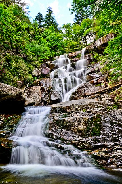 Ramsey Cascades waterfall in the Smoky Mountains National Park