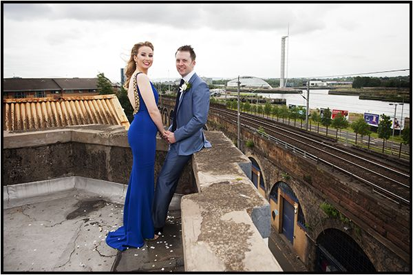 Ainsley and Craig who had a really unique wedding at #SWG3 warehouse, Glasgow.