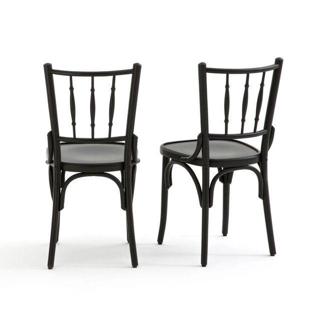 Lot De 2 Chaises Style Bistrot Bistro Avec Images Chaise Bistro Chaise Bistrot
