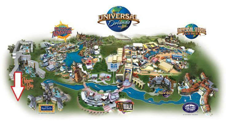 Universal resort Map