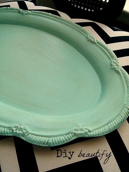 How To Antique A Tray Using Chalk Paint Trays Diy And