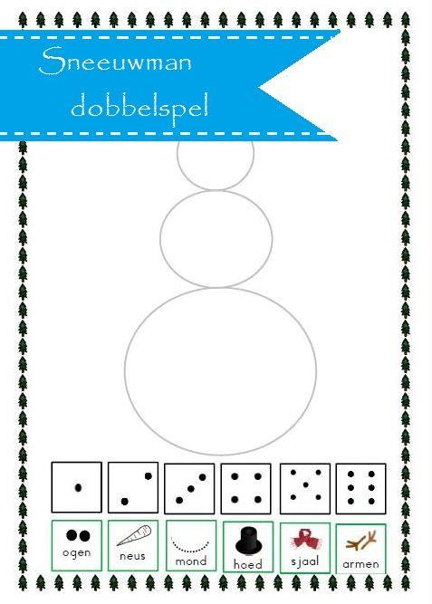Thema winter; sneeuwpop dobbelspel is erg leuke en leerzame activiteit voor groep 2/3. Met potloden, dobbelsteen en werkblad kun je aan de slag.