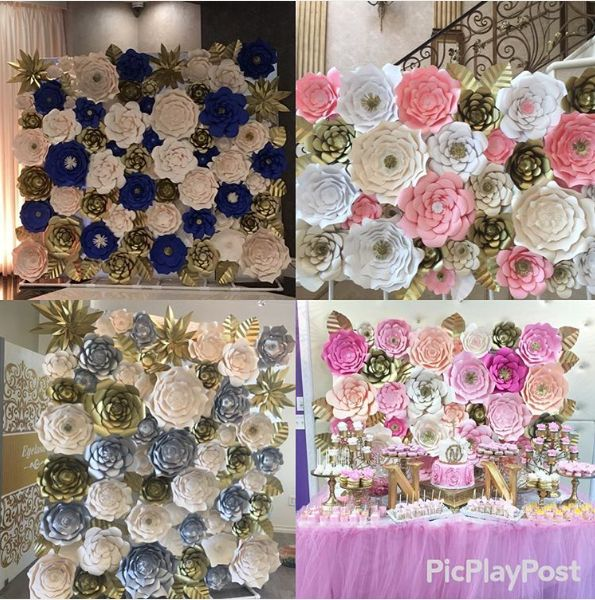 49 best decoraciones con flores de papel images on - Adornos de papel para fiestas ...