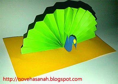Nove Hasanah: Kerajinan Tangan Anak SD : Burung Merak