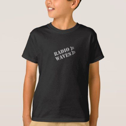 RADIO WAVES BLACK T-SHIRT - boy gifts gift ideas diy unique