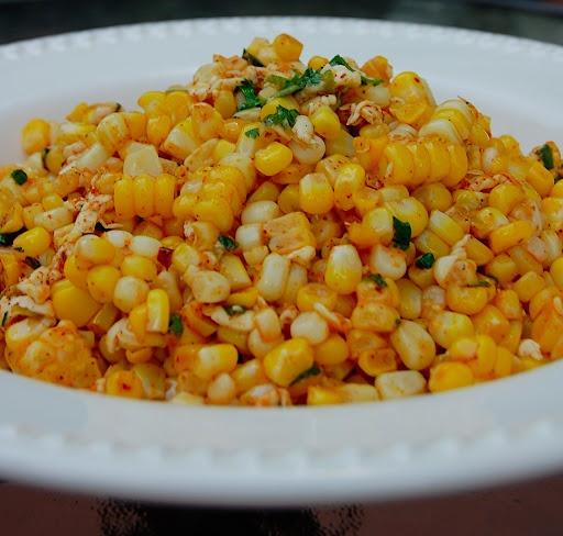 Savory Spicy Sweet: Bobby Flays Grilled Corn Salad with Lime, Red Chili, and Cotija
