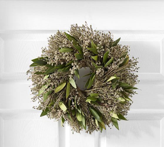 Live Dried Herb Wreath Herbs Pumpkin Wreath Wreaths