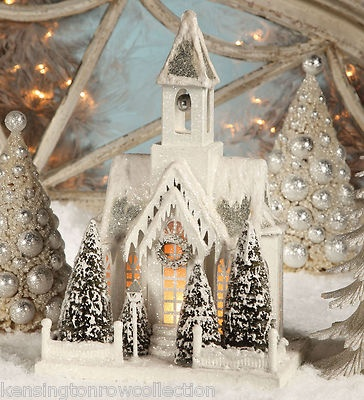 Christmas Collectible Lighted Village Church Bethany Lowe Designs | eBay