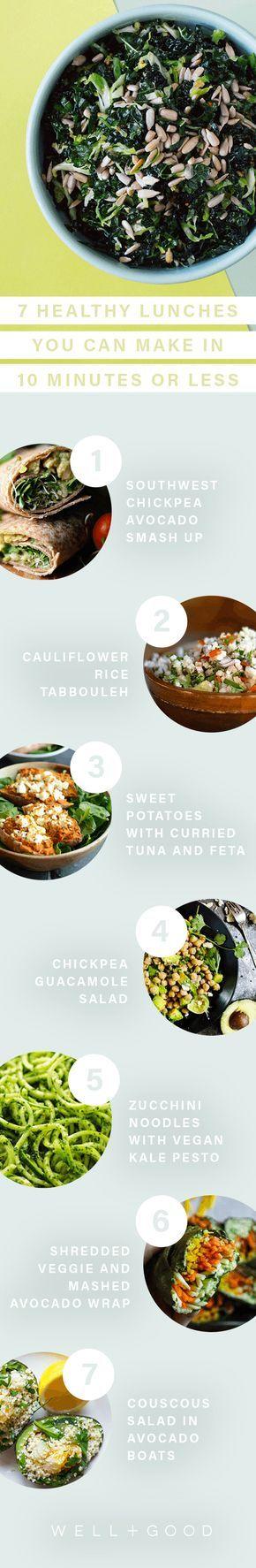 10 minuet healthy lunch recipe ideas