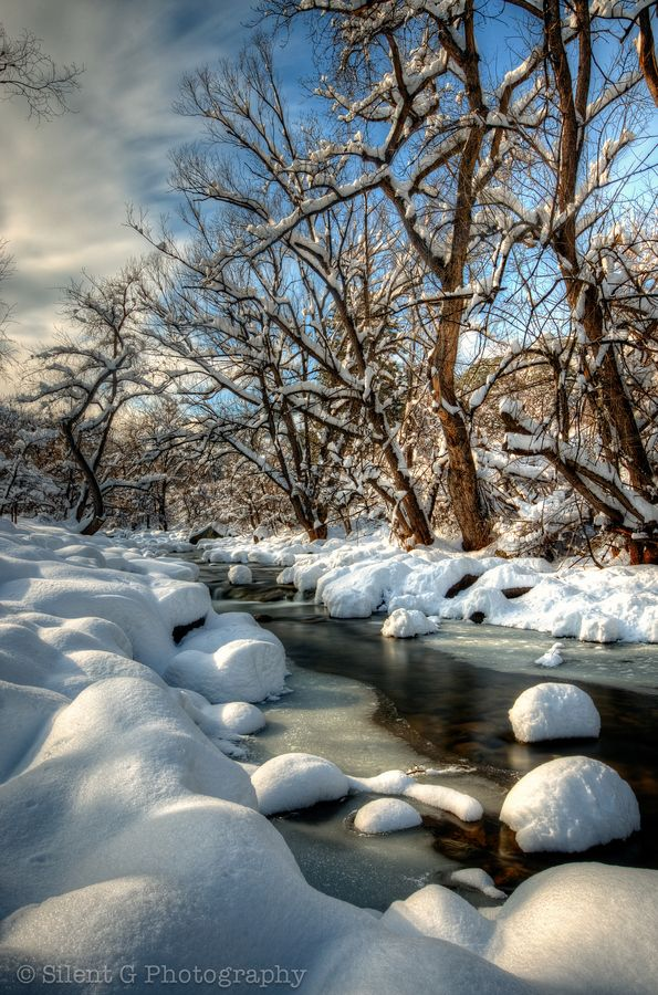Boulder Creek by Mark Gvazdinskas, via 500px; Boulder, Colorado, United States.