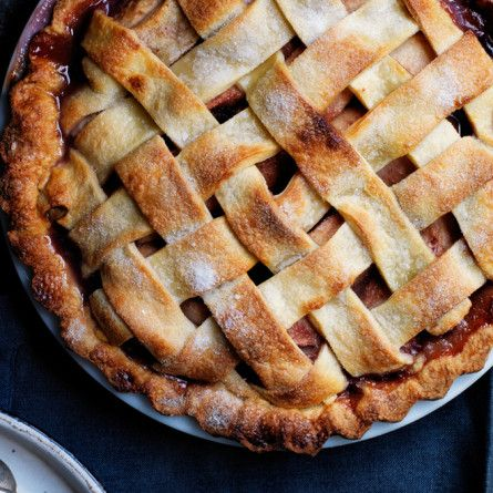 Pear Pie with Red Wine and Rosemary recipe: Wine in a pie? Just trust us.