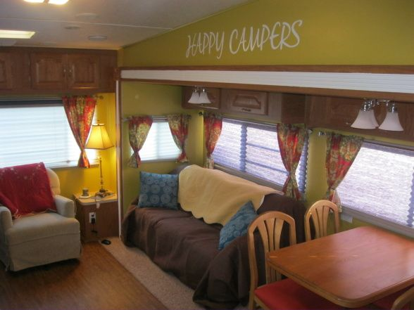 that theres an rv remodel clark other space designs decorating ideas hgtv rate my space great outdoorslittle trailers fixed uprv livingtrailerluv - Camper Design Ideas