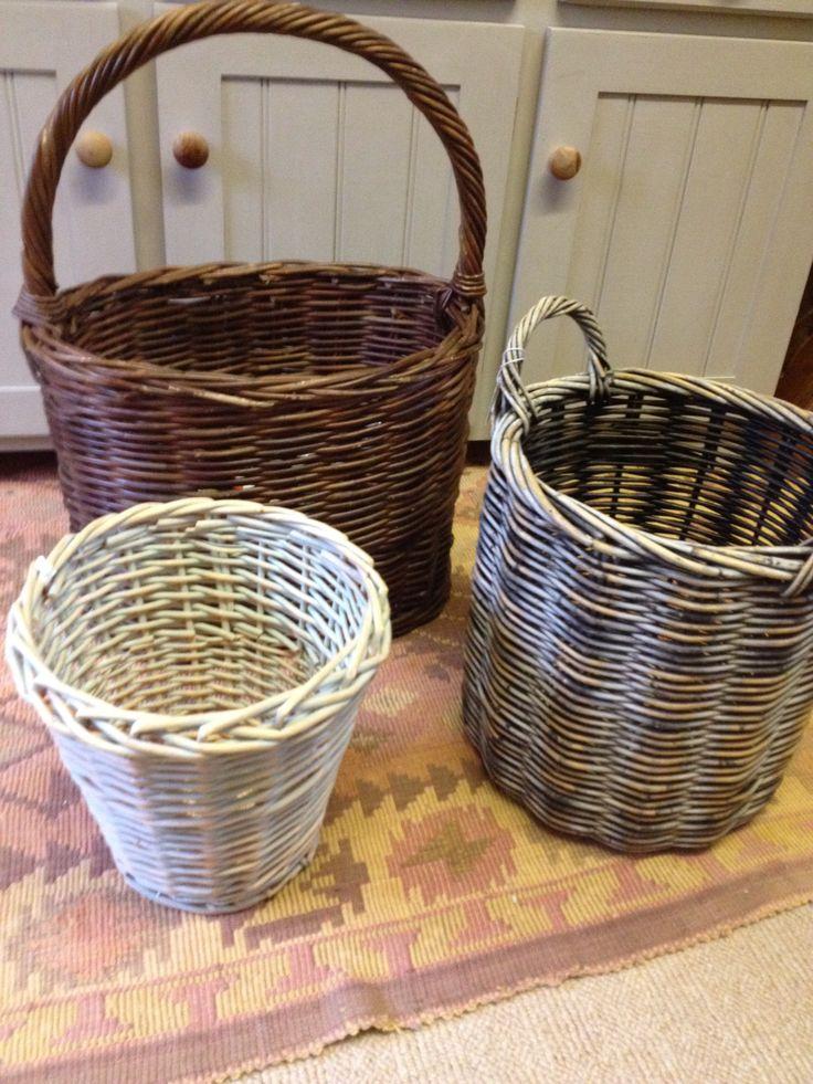 Cute set of wicker baskets. Kalicohome.com