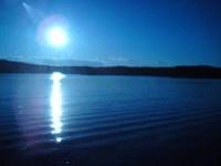 Moss,Mossesundet,Solnedgang,Jeløya,blå solnedgang