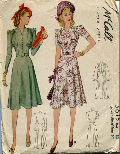 McCall 3615: Ladies' and misses' dress