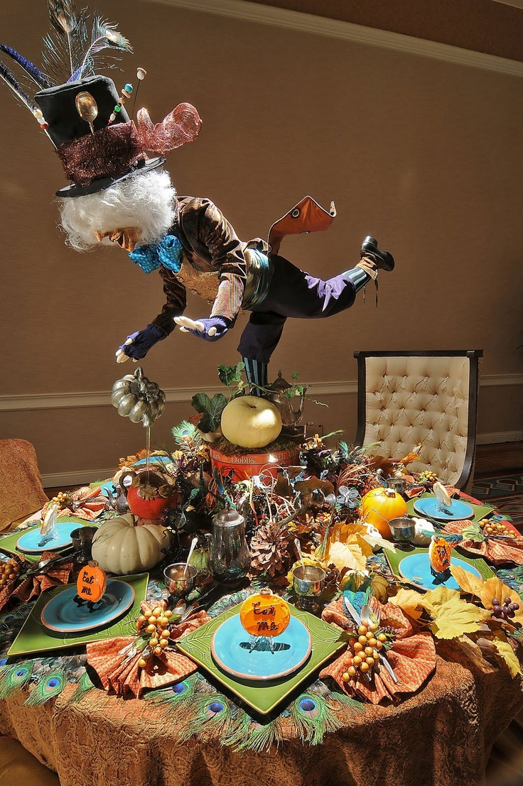 Mad hatter tea party decoration ideas - Mad Hatter Table Settings Mad Hatter Partyautumn Teaeaster