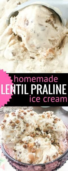 Praline Ice Cream with homemade caramel! This no churn ice cream ...